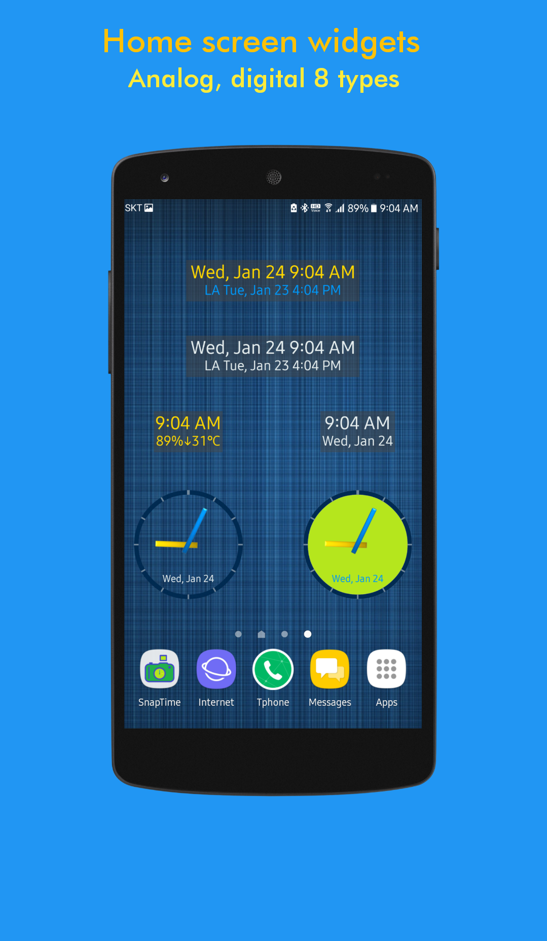 ClockView: Always OnㆍTalking Alarm Clock